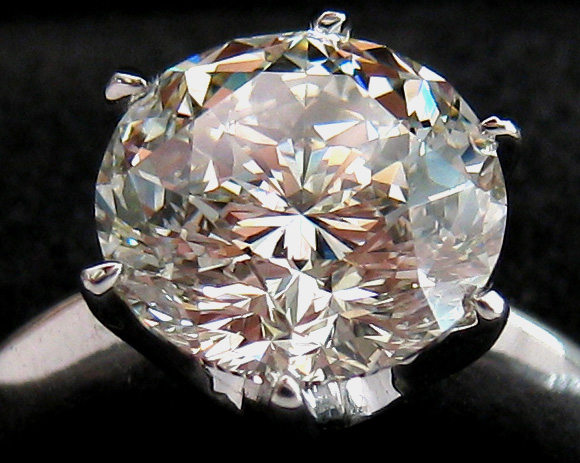 Gabrielle round diamond engagement ring